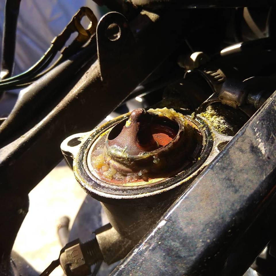 Замена термостата на мотоцикле