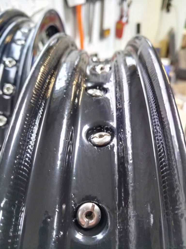 Порошковая покраска и переспицовка мотодисков на Honda GB 400. Часть 2.